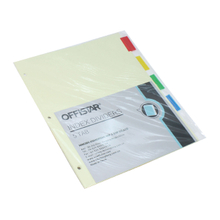 5PK file dividers with pet tab