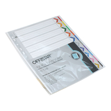 1-10 file dividers with pet tab