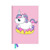 A5 Glitter Embroidery Unicorn Notebook